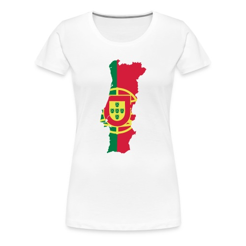Portugal map - T-shirt Premium Femme