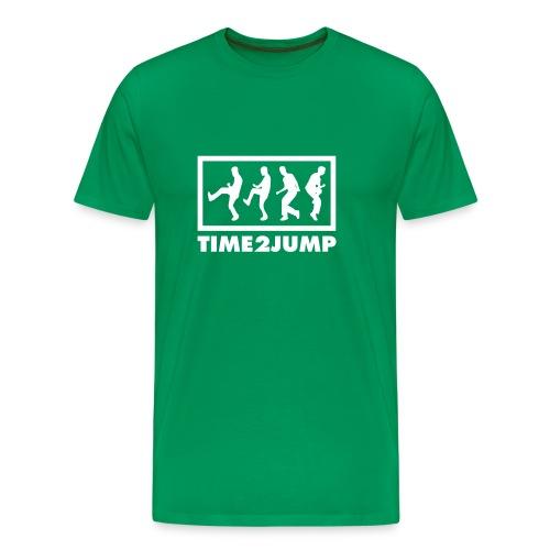 Time 2 Jump (Musik Shirt) - Männer Premium T-Shirt