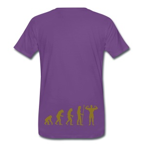 limited edition purple/gold muscle evolution - Men's Premium T-Shirt