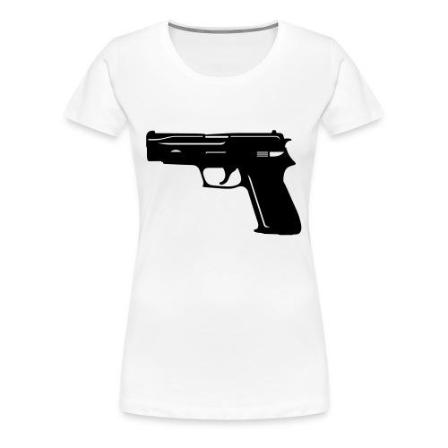 gun holes - T-shirt Premium Femme