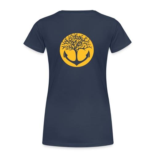 Frauen Shirt - navy/ Motiv gelb - Frauen Premium T-Shirt