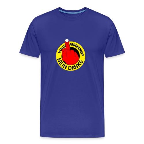 Vollverarschung? NEIN DANKE - Männer Premium T-Shirt