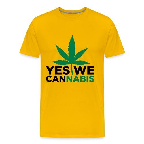 Cannabis T-Shirt - Yes We Cannabis - Men's Premium T-Shirt