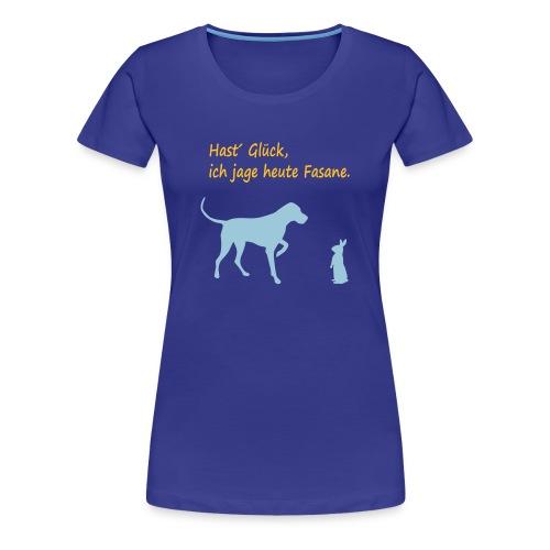 Hund auf der Jagd - Frauen Premium T-Shirt