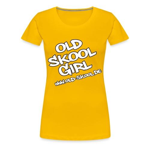 Old Skool Girl - Frauen Premium T-Shirt