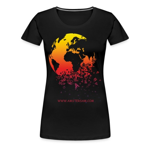 Women's Girlie Shirt 'The World' Black/Red - Women's Premium T-Shirt