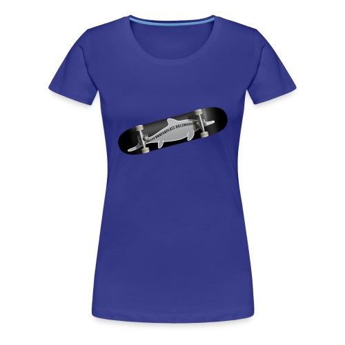 Skateboard Ichthyosaurus Foto Frauen - Frauen Premium T-Shirt
