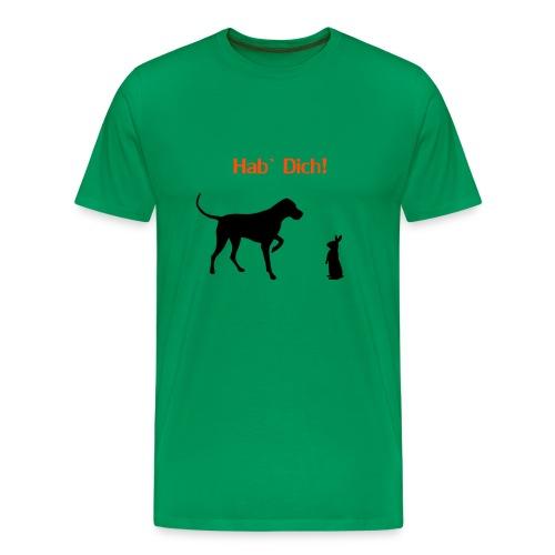 Jagdhund und Hase - Männer Premium T-Shirt