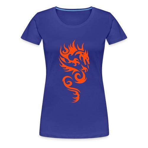 hot dragon - Frauen Premium T-Shirt