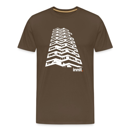 Innit 50PencePiece Brown - Men's Premium T-Shirt