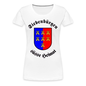 T-Shirt 'Siebenbürgen suesse Heimat' - Wappen der Siebenbürger Sachsen - Frauen Premium T-Shirt