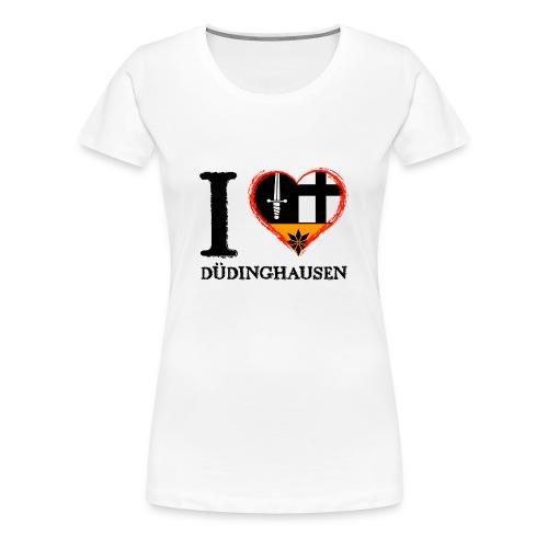 Frauen Girlieshirt: I love - gekrikelt - Frauen Premium T-Shirt