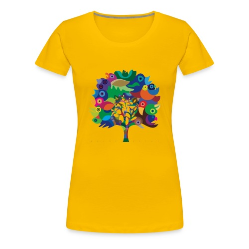 Overbirded Tree Shirt - Frauen Premium T-Shirt