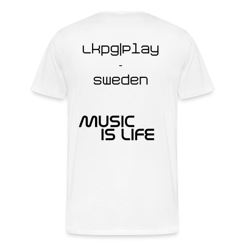 Music is life - Premium-T-shirt herr