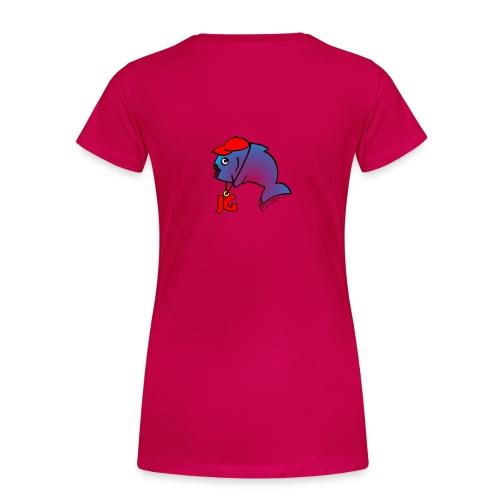 Frauen-Shirt mit farbiem Logo auf dem Rücken - Frauen Premium T-Shirt