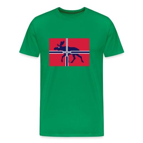elgjeger, offisielt norsk jaktsflagg - Premium T-skjorte for menn