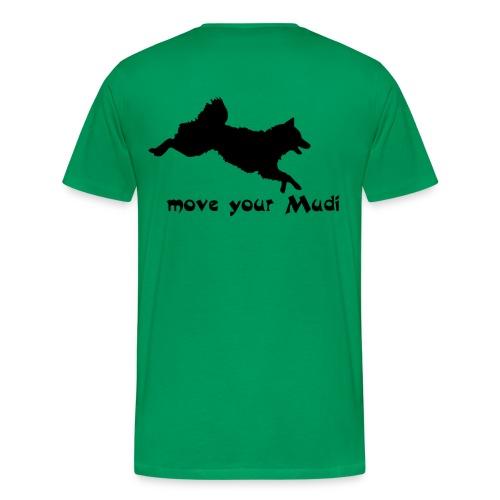 Move your Mudi black green - Men's Premium T-Shirt
