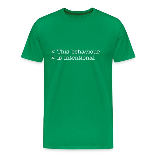Intentional behaviour - Men's Premium T-Shirt