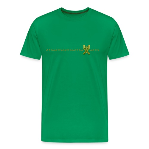 Yellow Line of Monkeys - Men's Premium T-Shirt