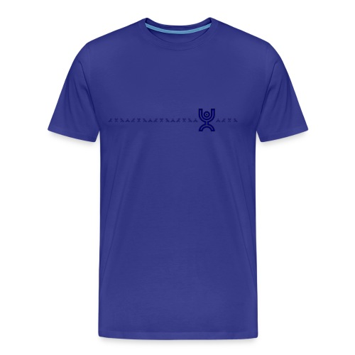Blue Line of Monkeys - Men's Premium T-Shirt