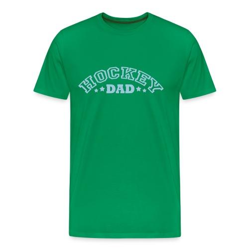 'Hockey Dad' Men's Premium T-Shirt (arched text) - Men's Premium T-Shirt