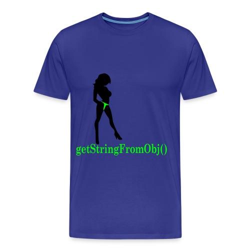 Get String from Object - Männer Premium T-Shirt