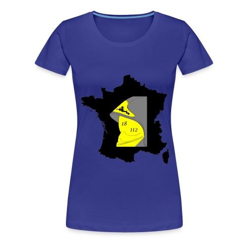 T-shirt Premium Femme - volontaire,veste,sécurité,secourisme,sauvetage,professionnel,pompiers,lance,incendie,grade,feu,extincteur,casque,botte,alarme,Sapeurs,France,18,112