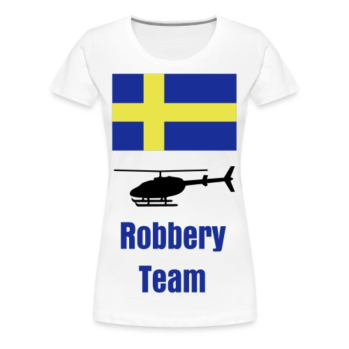Sweden helicopter robbery team - Premium-T-shirt dam