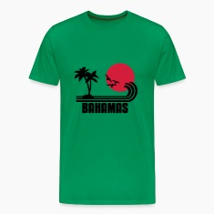 Bahamas, palm trees, sun beach retro design, wanderlust. T-Shirts
