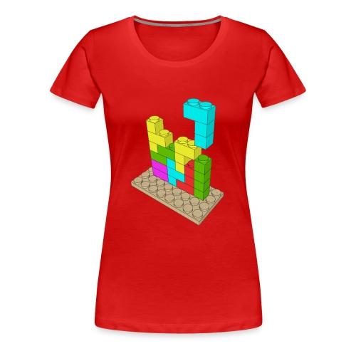 Piezas juego construcción tetris - Camiseta premium mujer