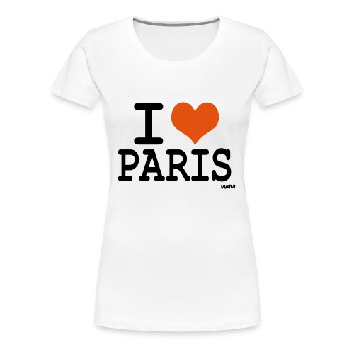 I LOVE PARIS - Maglietta Premium da donna