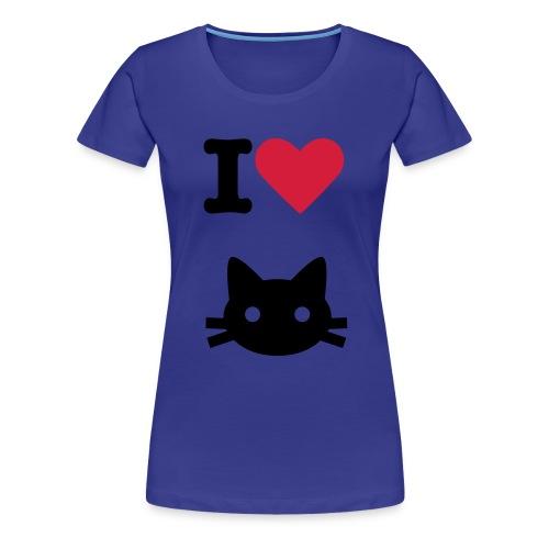I love Cats. - Women's Premium T-Shirt