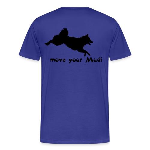 Move your Mudi Black skyblue - Men's Premium T-Shirt