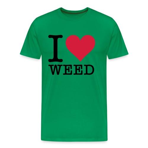 i love weed - Premium T-skjorte for menn