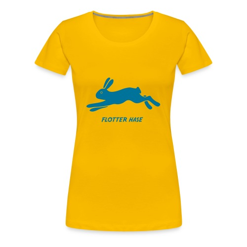t-shirt hase häschen flotter muckel kaninchen löffler bunny klopfer ohren langohr ostern hoppel - Frauen Premium T-Shirt