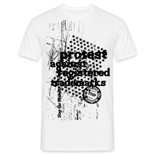 Männer T-Shirt - widerstand,trend,trademark,style,street wear,sterne,stempel,stars,protest against registered trademarks,protest,me creative,marke,grunge,good looks,city,brands,aufstand