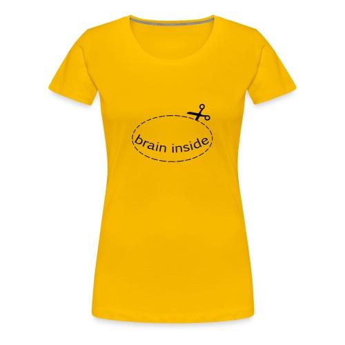 Lochshirt Brain - Girls/Flock - Frauen Premium T-Shirt