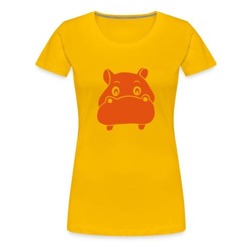 t-shirt hippo nilpferd nili flusspferd tier niedlich afrika - Frauen Premium T-Shirt