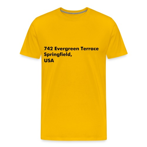 Address Series #5 (insp. by The Simpsons) - T-shirt Premium Homme