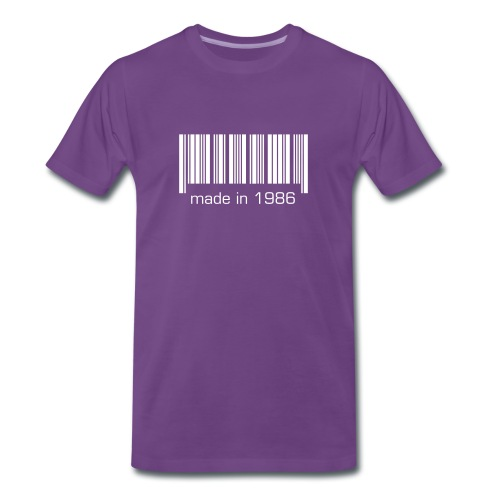 Barcode - made in 19XX - Männer Premium T-Shirt