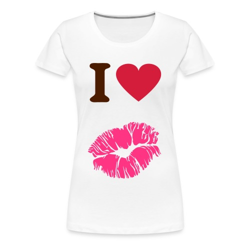 Tee-shirt I love you - T-shirt Premium Femme