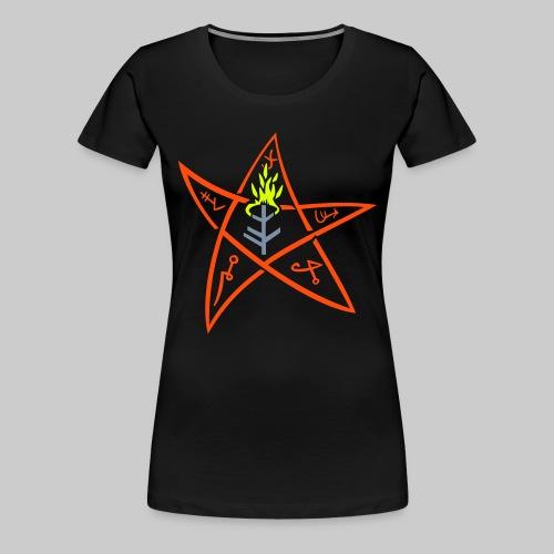 FTGg: The Elder sign according to August Derleth description - Women's Premium T-Shirt