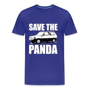 Save the Panda Funny T-shirt - Mannen Premium T-shirt