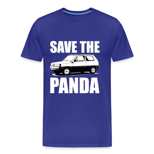 Save the Panda Funny T-shirt - Mannen Premium T-shirt