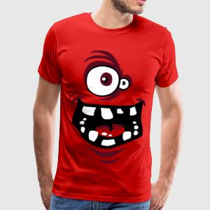 Funny monster face t-shirt bordeaux - T-shirt Premium Homme