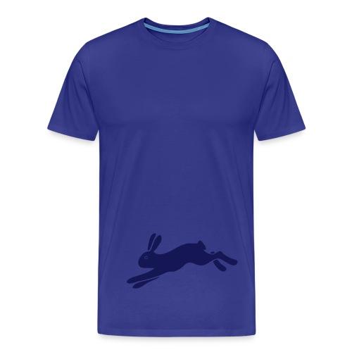 t-shirt hase häschen flotter muckel kaninchen löffler bunny klopfer ohren langohr ostern hoppel - Männer Premium T-Shirt