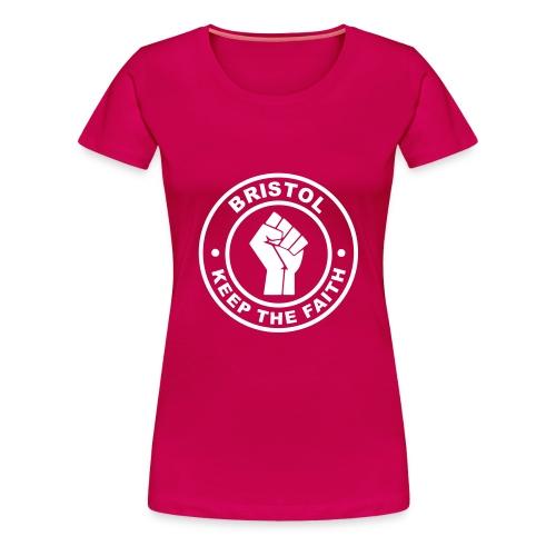 Bristol Keep Faith - Ladies T - Women's Premium T-Shirt