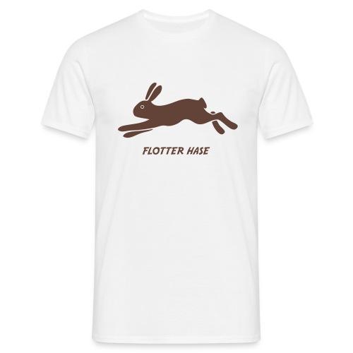t-shirt hase häschen flotter muckel kaninchen löffler bunny klopfer ohren langohr ostern hoppel - Männer T-Shirt