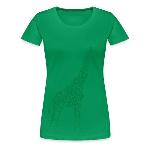 t-shirt giraffe girafe afrika serengeti savanne tier wild - Frauen Premium T-Shirt