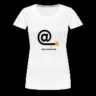 Tee shirts ~ T-shirt Premium Femme ~ Arobase étincelle blanc